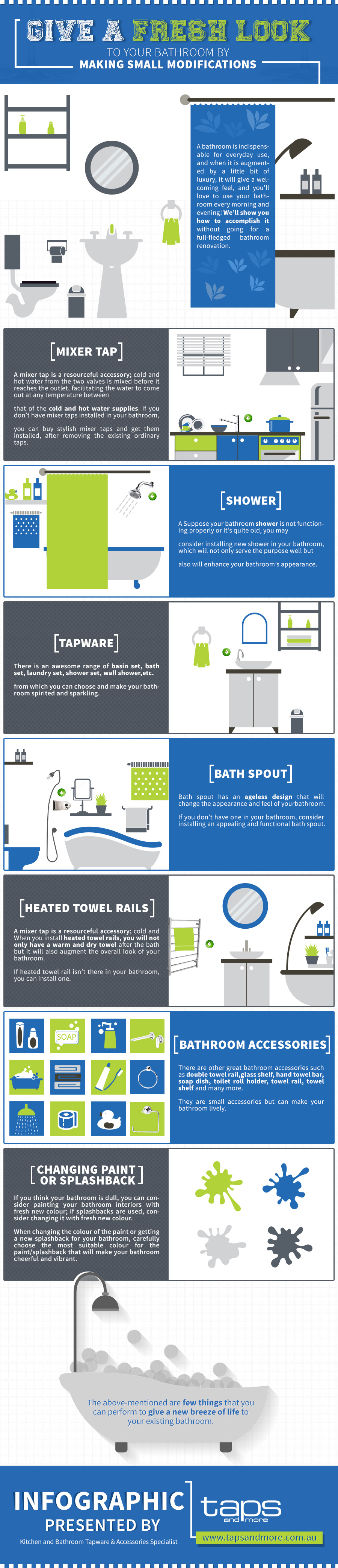 Fresh Bathroom Look Infographic