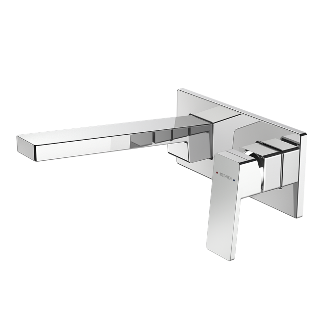 Methven Blaze Plate Mount Bath Mixer with 200mm Spout