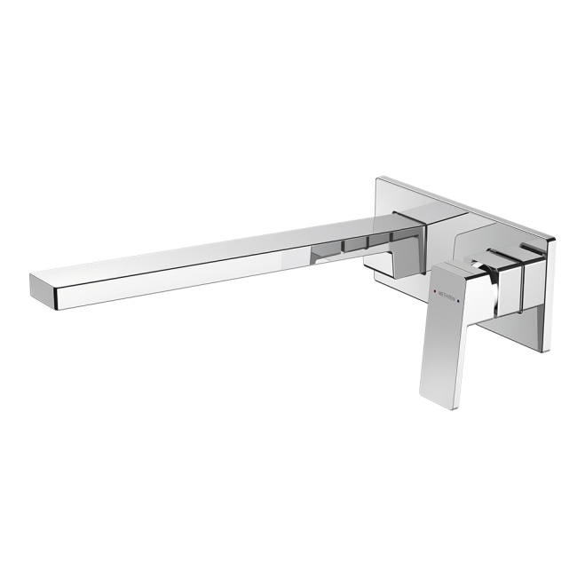 Methven Blaze Plate Mount Bath Mixer with 300mm Spout