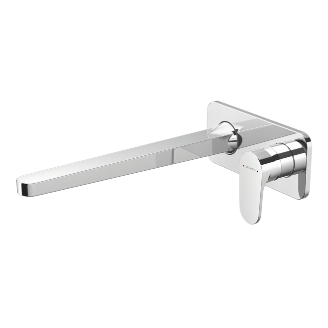 Methven Glide Plate Mount Bath Mixer with 300mm Spout