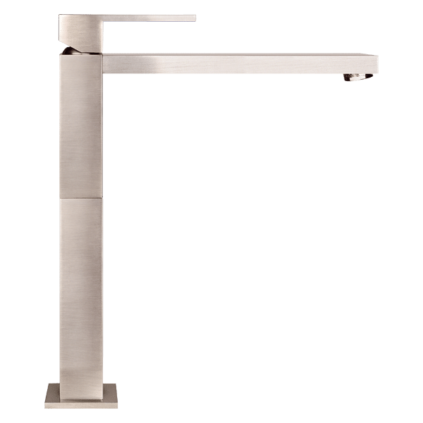 Rettangolo High Basin Mixer - Brushed Nickel Finish