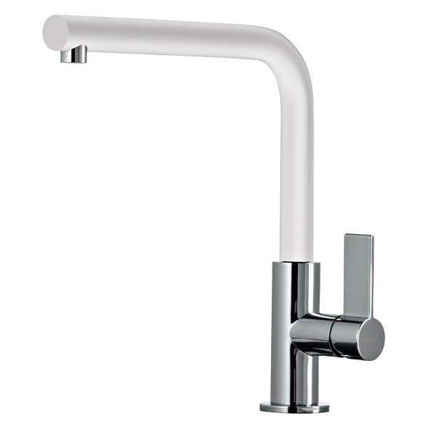 Emporio Kitchen Mixer - White Spout Finish