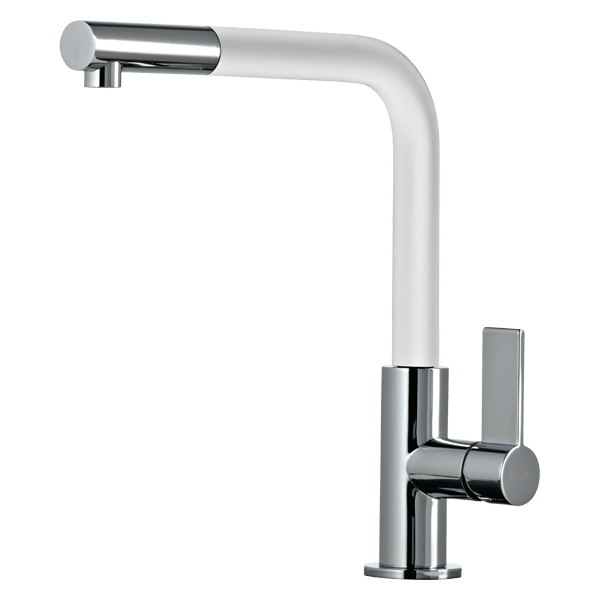 Emporio Pull Out Kitchen Mixer - White Spout Finish