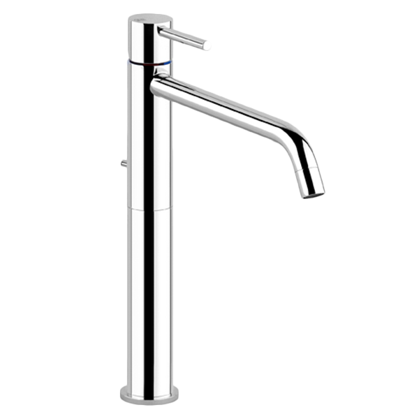 Via Tortona High Basin Mixer - Brushed Nickel Finish