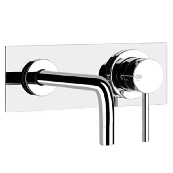 Via Tortona Built in Wall Mixer with Spout - Black Finish