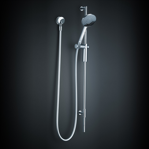 Dorf Bliss Bathroom Wall Rail Shower Chrome Wels