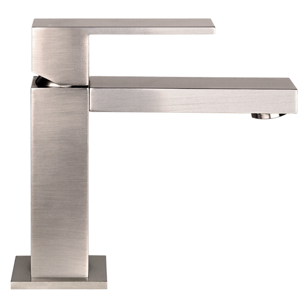 Rettangolo Standard Basin Mixer - Brushed Nickel Finish