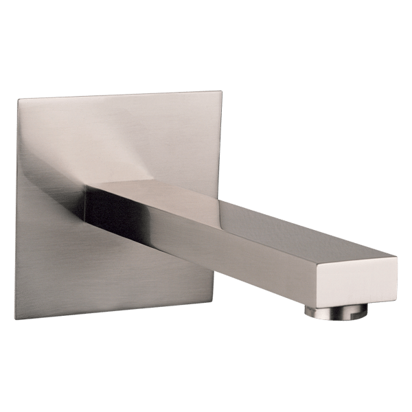 Rettangolo Basin Spout - Brushed Nickel Finish