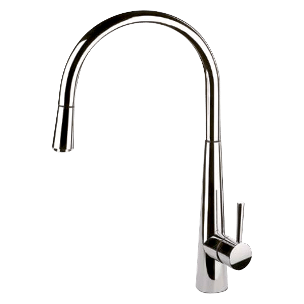 Just Sink Mixer With Pull-Out - Brushed Nickel Finish