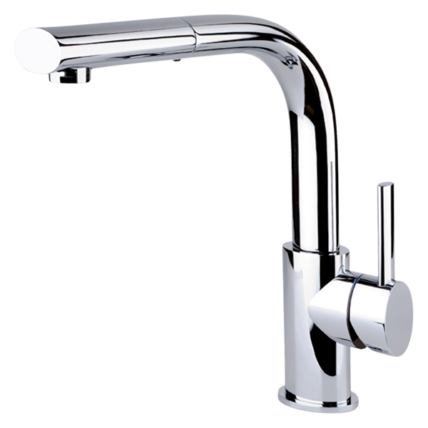 Ovale Sink Mixer With Pull-Out - Chrome Finish