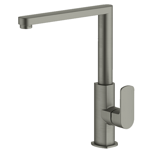 Lucia Side Lever Kitchen Mixer - Gun Metal Grey Finish
