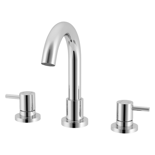 Lucia Gooseneck 3 Piece Bath Set - Chrome Finish