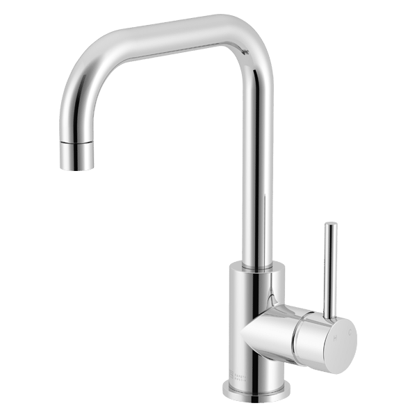 Lucia Square Sidelever Mixer - Chrome Finish