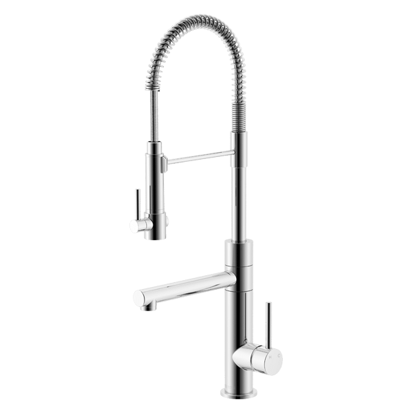 Lucia Side Lever Sink Mixer with Spring Coil Pull Down