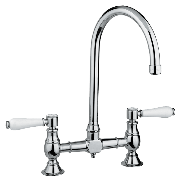 Provincial Exposed Breach Kitchen Tap - Brushed Nickel Finish