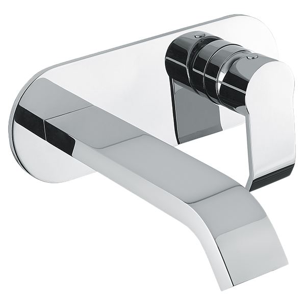 Stile Wall Mixer & Basin Spout Set - Chrome Finish