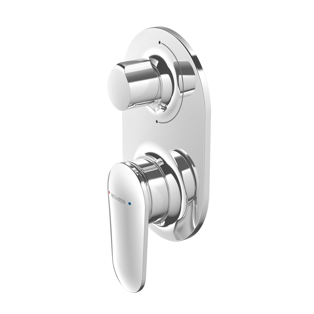AIO SHOWER MIXER WITH DIVERTER CHROME