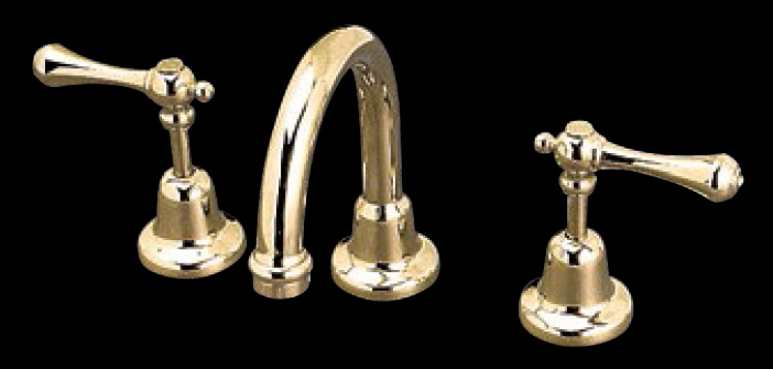 Bastow Federation Style Bathroom Basin Tapware Set With Lever Handles