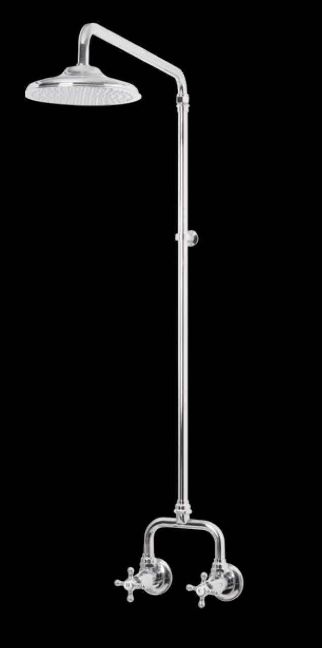 Bastow Federation Style Bathroom Wall Exposed Shower Set 200mm Rose