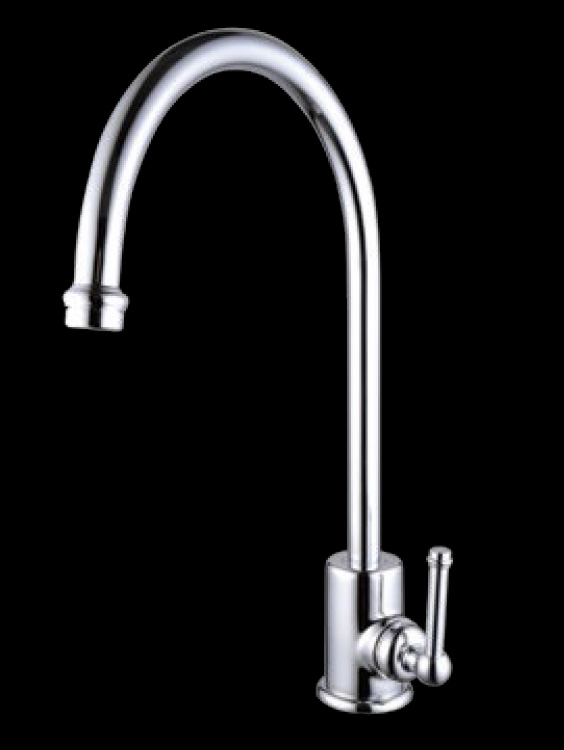 Bastow Federation Style Gooseneck Sink Wels Mixer Tap Chrome