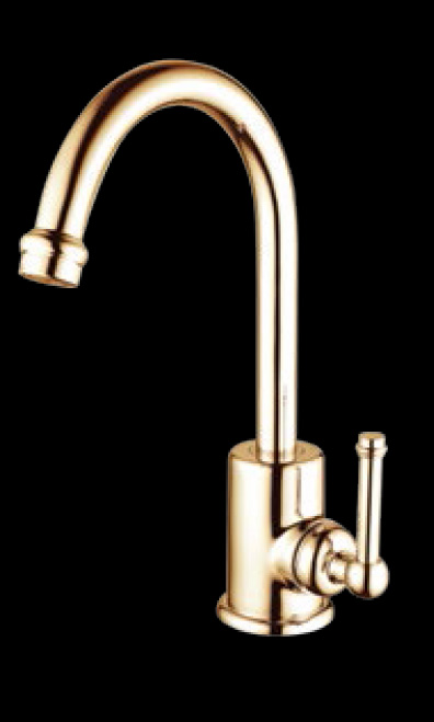 Bastow Federation Style Basin Wels Mixer Tap Brass Gold