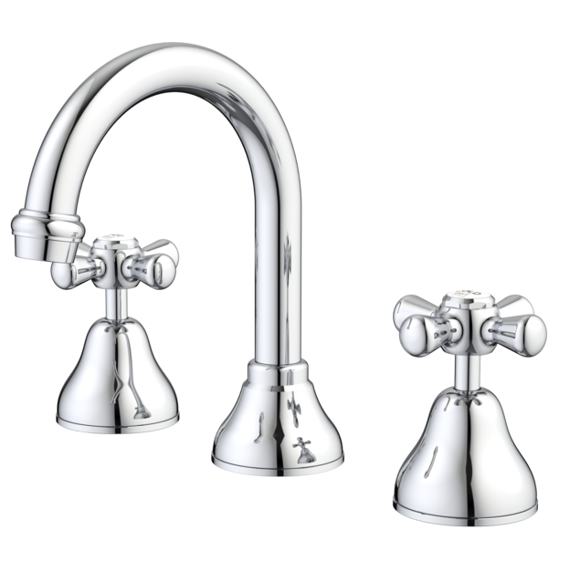 El Toro Cross Basin Set - White / Chrome
