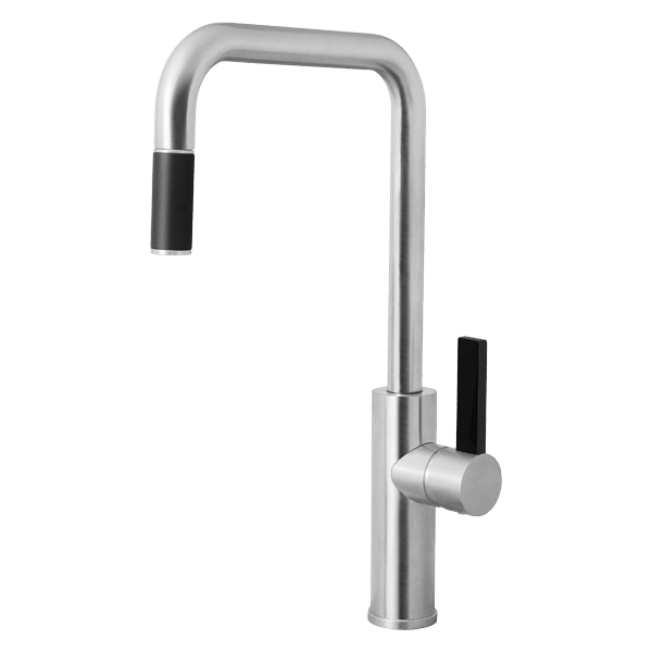 Luz Kitchen Mixer With Pull-Out - Brushed Chrome Finish