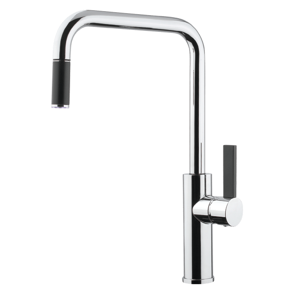 Luz Kitchen Mixer With Pull-Out - Chrome Finish
