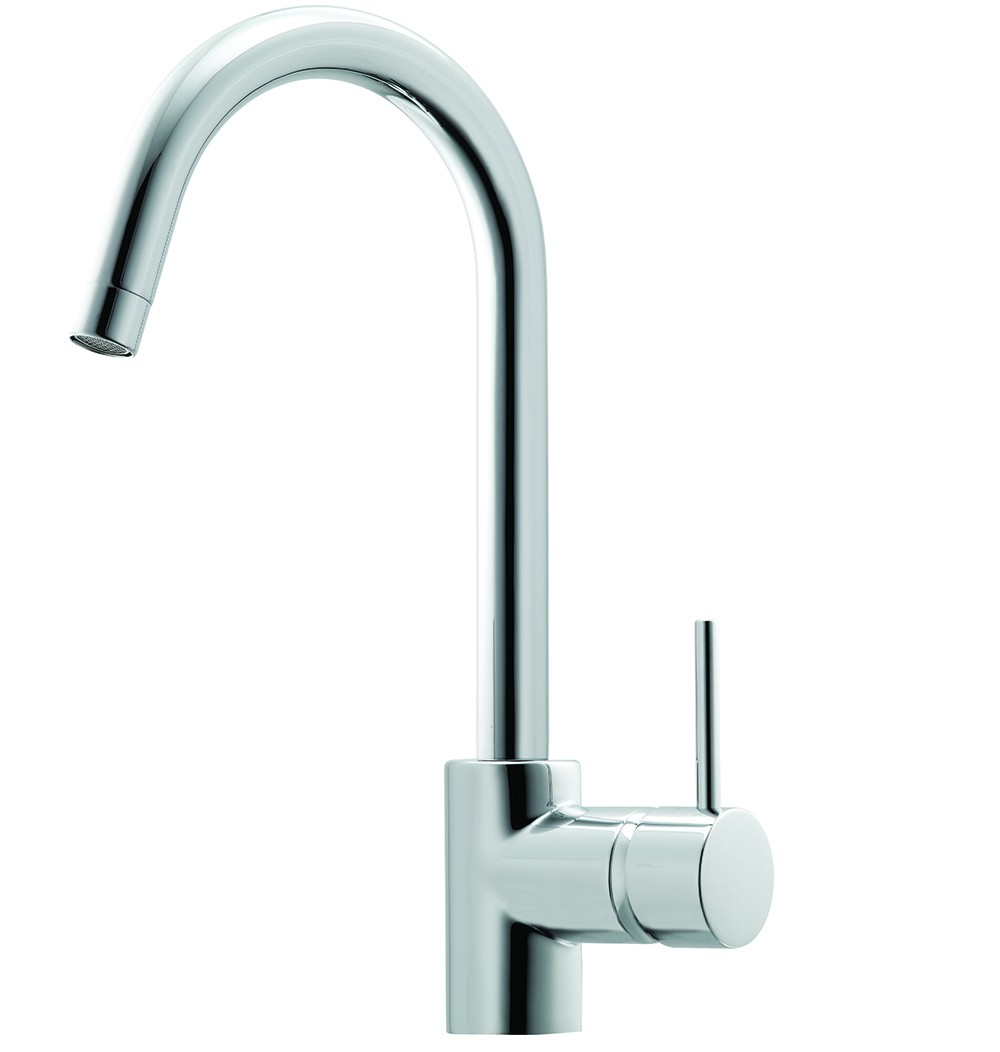 MIN. GOOSENECK SINK MIXER CHROME 6 STAR