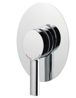 Methven Ovalo Bathroom Wall Shower Mixer Chrome Round