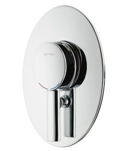 Methven Ovalo Bathroom Wall Shower Mixer With Diverter Chrome