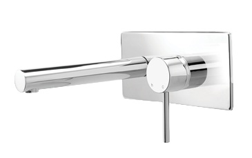 Methven Minimalist Wall Mounted Bathroom Wels Basin Mixer With Plate