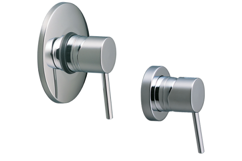 Methven Minimalist Bathroom Wall Shower Mixer - Round Chrome Plate