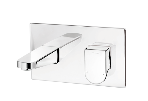 Methven Rere Wall Mounted Bath Mixer Tap With Chrome Plate 200mm