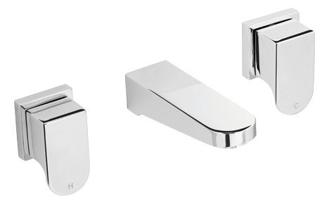 Methven Rere 3 Hole Wall Mounted Bath Set Tapware Chrome -145mm