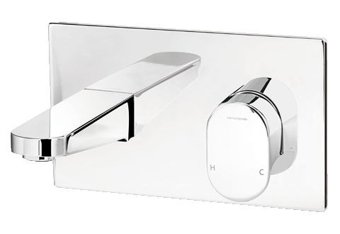 Methven Amio Wall Mounted Bath Mixer With Chrome Plate 145mm