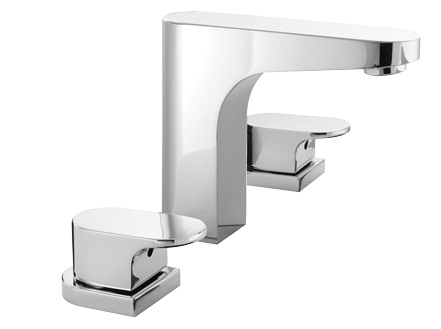 Methven Amio 3 Hole Hob Mounted Bathroom Basin Wels Tapware Set Chrome