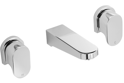 Methven Amio 3 Hole Wall Mounted Bath Set Chrome 145mm