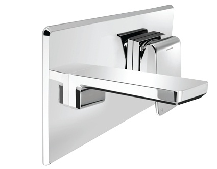 Methven Kiri Bathroom Wall Wels Mounted Basin Wels Mixer With Plate Chrome