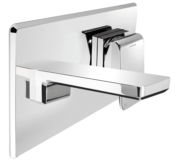 Methven Kiri Wall Wels Mounted Bathroom Bath Mixer With Plate Chrome