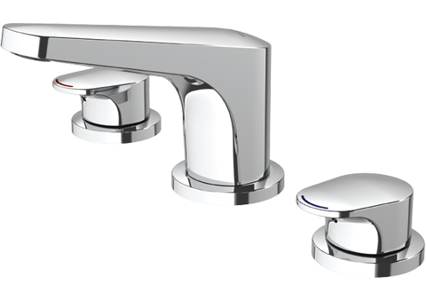 Methven Kaha 3 Hole Hob Mounted Basin Set Chrome