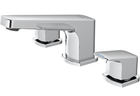 Methven Waipori 3 Hole Bathroom Wels Hob Mounted Basin Set Tapware Chrome