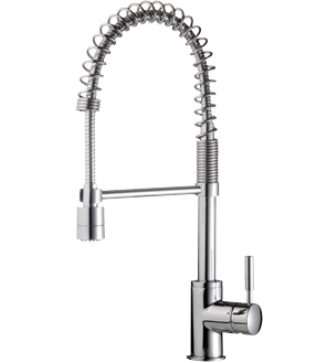 Minimlaist Spring Pull Down Kitchen Wels Sink Mixer Tap With Twin ...