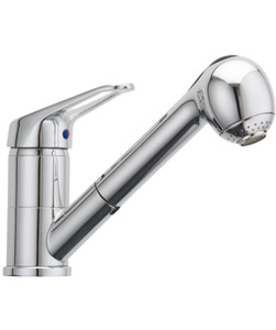 Flexispray Echo Circa Kitchen Laundry Sink Wels Mixer Tap With Pull Out Spray
