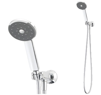 Methven Kiri Bathroom Wels Wall Hand Shower Single Function With Hose Chrome