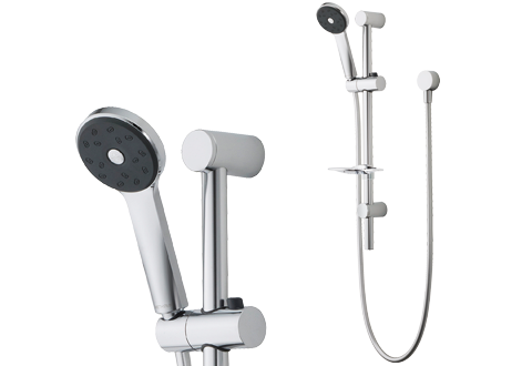 Methven Maku Bathroom Wels Rail Shower Chrome