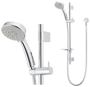 Methven Amio Bathroom Wels 5 Function Adjustable Spray Shower Head Rail Chrome