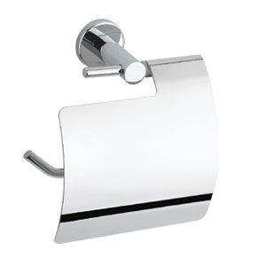 OS Wall Round Toilet Paper Holder Chrome Bathroom Accessories