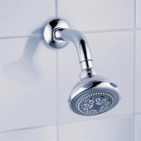 Dorf Nutra Bathroom Fixed Wels Wall Shower Head Round Chrome 5 Spray