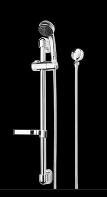Novelli Micro Wall Hand Shower And Rail Set Chrome - (Blister Pack)